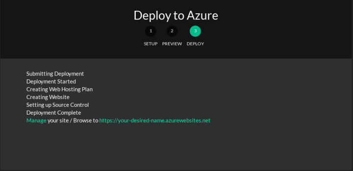 Deploying Ghost on Azure