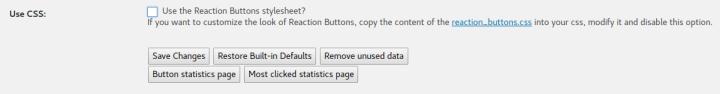 Reaction Buttons Disable Default CSS