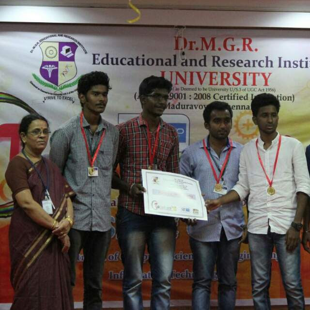 HoD Distributing our Certificate on Stage