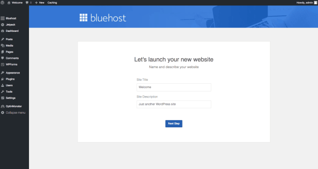 Bluehost WordPress General Settings