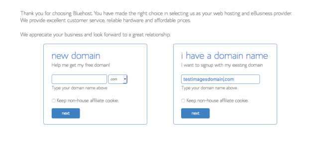 Register Domain Name on Bluehost