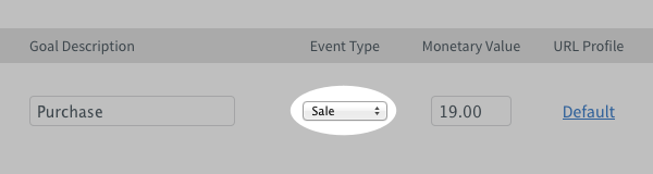 AWeber Event Type Dropdown