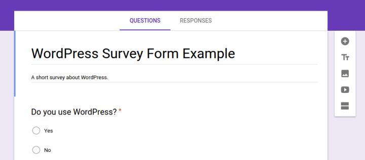 Google Forms Sample Survey