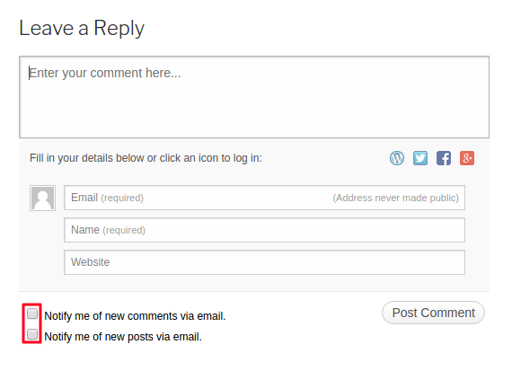 Jetpack Comments Box Demo