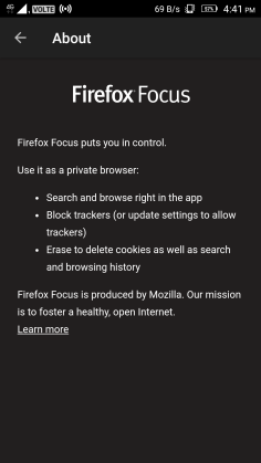About Firefox Focus
