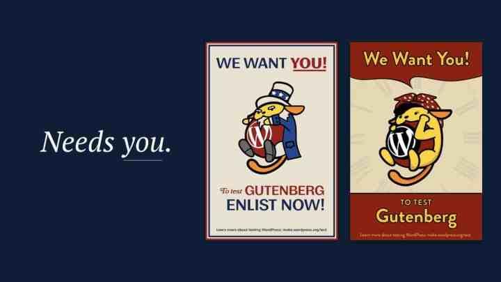Gutenberg Needs You - Test Gutenberg Editor Today