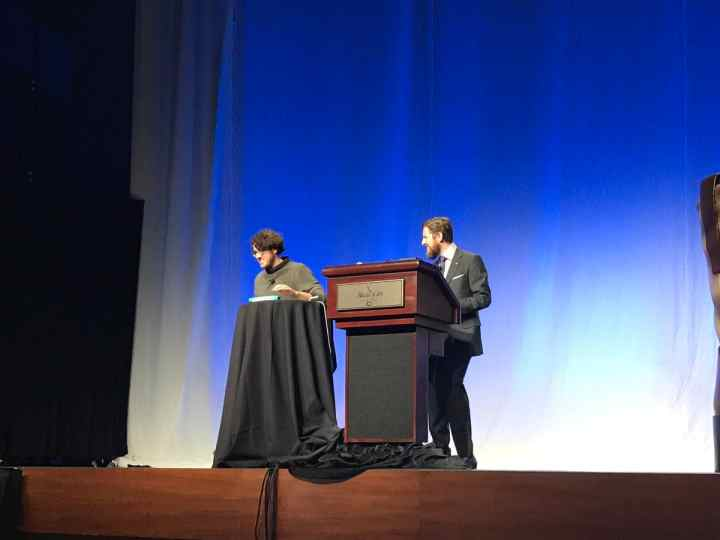 Matías Ventura and Matt Mullenweg On Stage at WordCamp US 2017 Nashville
