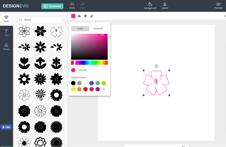 DesignEvo Create A Logo - Step 2