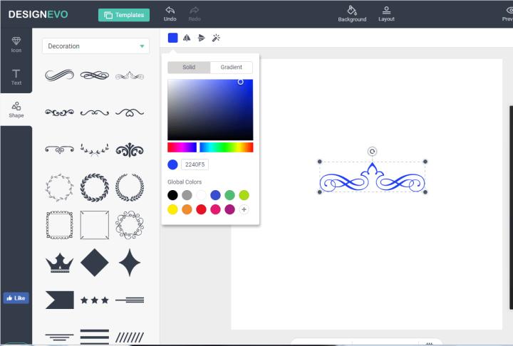 DesignEvo Free Logo Creator - Step 3
