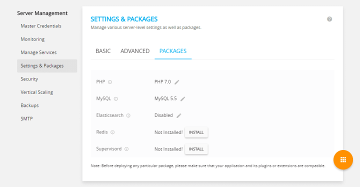Managing Settings & Packages In Cloudways