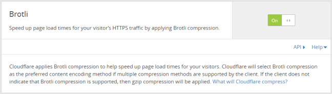 Enable Brotli Compression From Cloudflare Dashboard