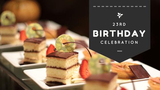 Celebrating my 23rd Birthday at ECR