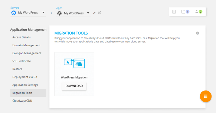 Migrate WordPress Site To Cloudways