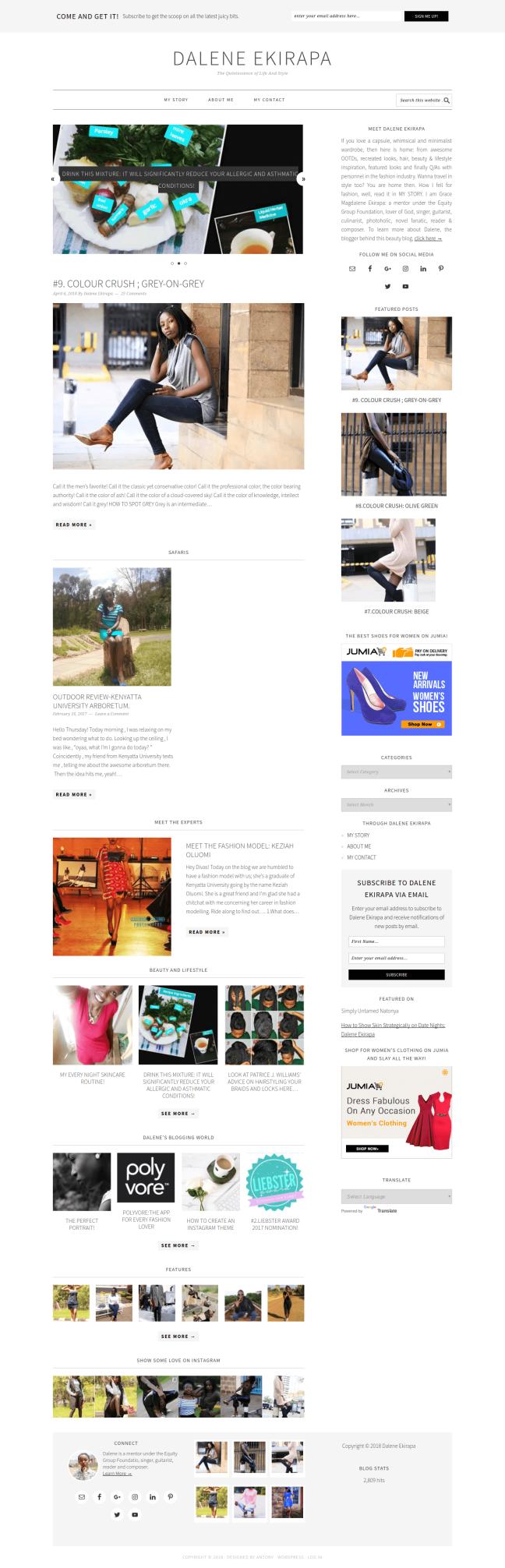 Fashion And Lifestyle Blogger Dalene Ekirapa