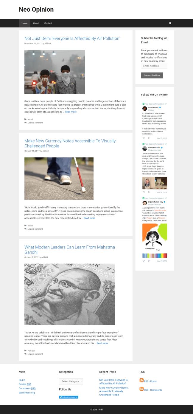 Neo Opinion - A Sociopolitical Blog