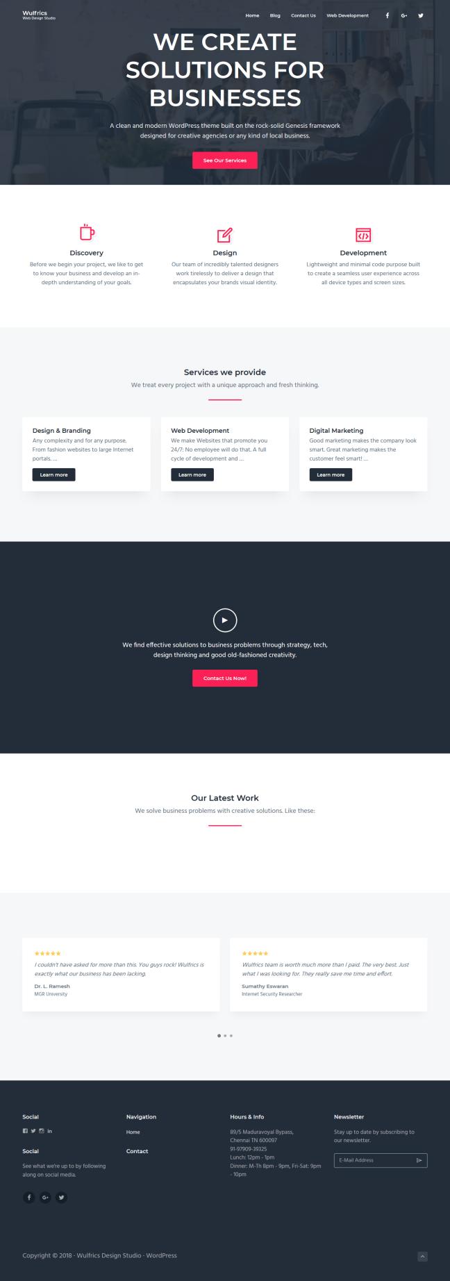 Wulfrics Web Design Studio