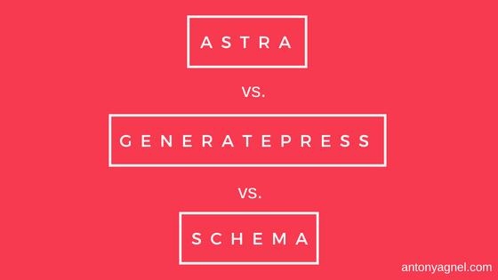 WP Astra vs GeneratePress Premium vs MyThemeShop MTS Schema - Which is the fastest WordPress theme