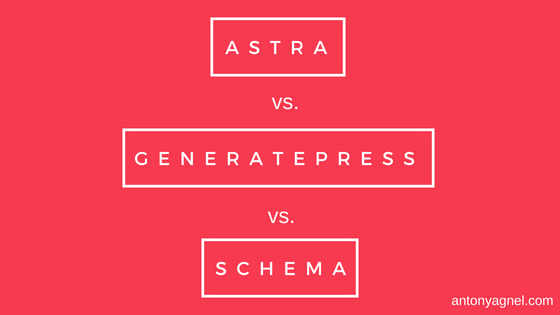 WP Astra vs GeneratePress Premium vs MyThemeShop MTS Schema - Which is the fastest WordPress theme