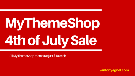 MyThemeShop 4th of July Sale Independence Day Offer