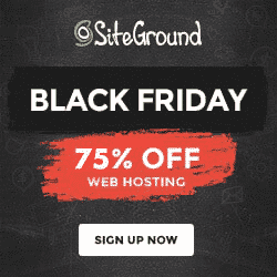 SiteGround Black Friday 2018 Deals
